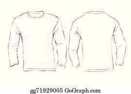 Vector Art - White long sleeve t-shirt design template. Clipart ...