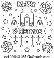 Christmas Coloring Page Clip Art - Royalty Free - GoGraph