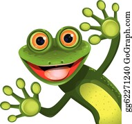 Frog green. Clip art royalty free