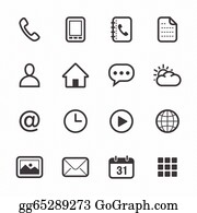 Contact Buttons Mobile Email Home Phone Icons Clip Art Royalty Free Gograph
