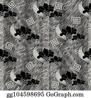 Vector Illustration - Embroidery modern greek key seamless pattern