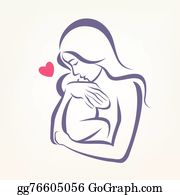 Mother Baby Clip Art Royalty Free Gograph