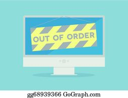 Out Of Order Clip Art Royalty Free Gograph