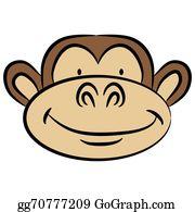 Monkey Face Clip Art Royalty Free Gograph