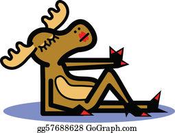 Reindeer Cartoon png download - 670*765 - Free Transparent Moose png  Download. - CleanPNG / KissPNG