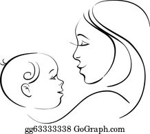 Mother baby. Clip art royalty free