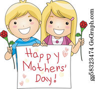 Mothers Day Clip Art - Royalty Free - GoGraph