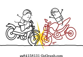 Motorcycle Accident Stock Illustrations - Royalty Free - GoGraph
