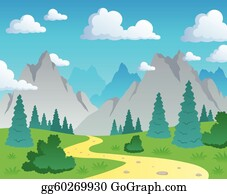Mountain Valley Clip Art