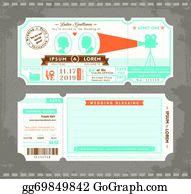 clip art vector movie ticket stock eps gg58750041 gograph