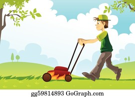 Mowing The Lawn Clip Art Royalty Free Gograph