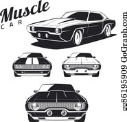 Muscle Cars Clip Art Royalty Free Gograph