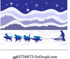 Dog Sled | Dog sledding, Dog silhouette, Sled