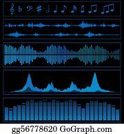 Waveform Clip Art - Royalty Free - GoGraph
