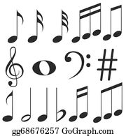Music Note Clip Art - Royalty Free - GoGraph