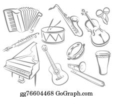 Musical Instrument Clipart #1403193 - Illustration by Vector Tradition SM