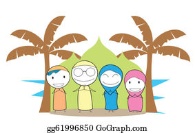Happy Muslim Family Clipart   Family cartoon, Muslim family, Islamic cartoon