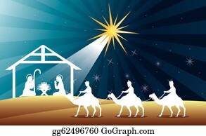 Nativity Scene Clip Art - Royalty Free