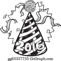 new year 2016 party hat