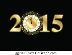 2019 New Years Eve Clipart Vector Stock-Vektorgrafik (Lizenzfrei) 1215620230