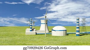 Thermal Power Plant Stock Illustrations Royalty Free