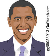 barack obama clip art royalty free gograph