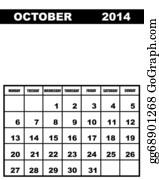 Calendar for 2014, october.