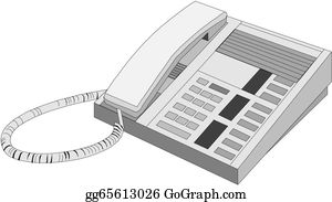 Office Phone Clip Art - Royalty Free - GoGraph