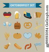 e7907900cdf EPS Vector - Oktoberfest hat icon flat style. isolated on white ...
