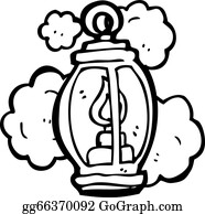 Excellent Old Lantern Cartoon With Clipart Black And White