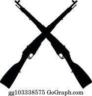 Crossed Rifles Clip Art - Royalty Free - GoGraph