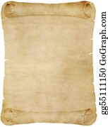 stock image vintage parchment paper scroll stock photo gg55136802