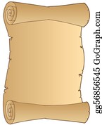 Paper Scroll Clip Art - Royalty Free - GoGraph