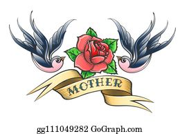 cf9651bcd Clip Art Old School Tattoo - Royalty Free - GoGraph