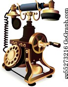 Old Telephone Clip Art - Royalty Free - GoGraph