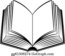 Books open. Book clip art royalty