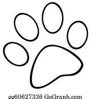 Tiger Clipart Paw - Dog Paw Print Clip Art , Free Transparent Clipart -  ClipartKey