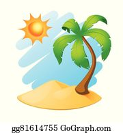 Tropical Island With Wooden Hut Cartoon Clipart Vector - FriendlyStock    Wooden hut, Tropical islands, Cartoon clip art