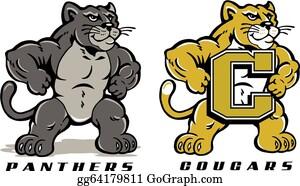 204e1259ad6 Cougar Clip Art - Royalty Free - GoGraph