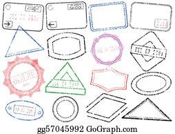 Passport Post Stamp Illustration
