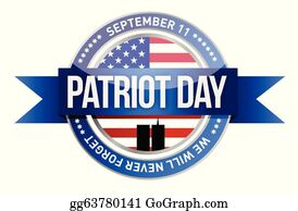 Patriot Day Clip Art - Royalty Free - GoGraph