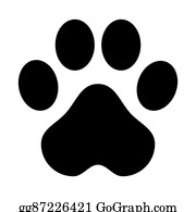 Love And Cat Prints - Dog Paw Clipart Black And White, HD Png Download -  764x675(#6863750) - PngFind