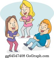 People Laughing Clip Art - Royalty Free - GoGraph