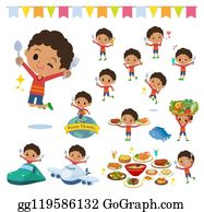 Curly Haired Boy Cartoon Royalty Free Gograph