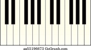 graphic about Piano Keyboard Printable identify Piano Keyboard Clip Artwork - Royalty Free of charge - GoGraph