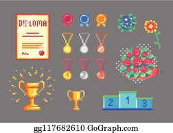 16 Bit Clip Art - Royalty Free - GoGraph