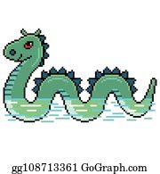 Loch Ness Monster Clip Art - Royalty Free - GoGraph