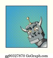 Evil Robots Concept. Robot Vacuum Cleaner With Evil Grin Stock Image -  Image of clean, couch: 141372039