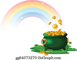 Pot Gold Clip Art Royalty Free Gograph