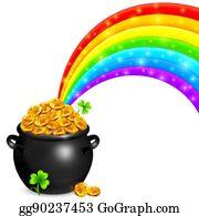 Pot Of Gold Rainbow Clip Art Royalty Free Gograph